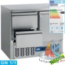 TABLE FRIGO. COMPACT 2 PORTES GN1/1 240L