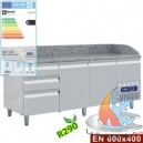 TABLE FRIGO 2 P.600x400+4 TIR.N.+TIR.UST