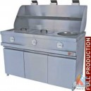 Friteuse gaz 3 cuves rondes
