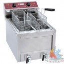 Friteuse double cuves 400V 1 cuve 2X8 litres