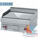 Plancha chrome gaz 1/2 lisse 1/2 rainuree 700x650xh280